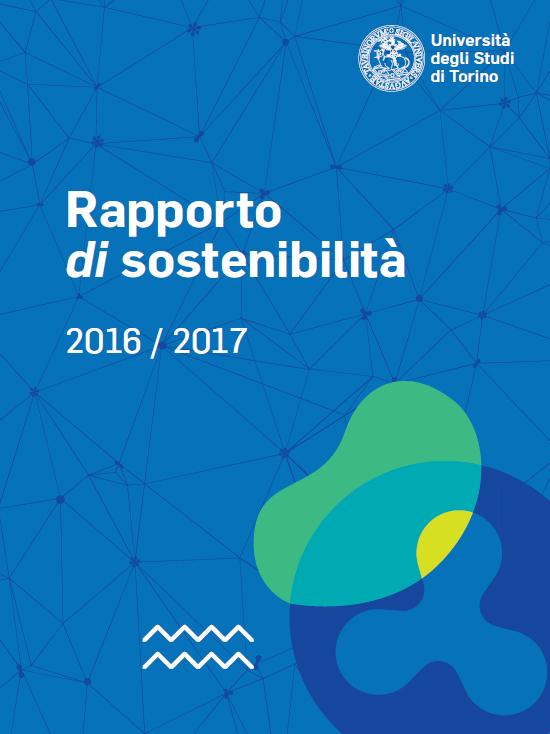 Copertina del Rapporto di sostenibilità 2016-17