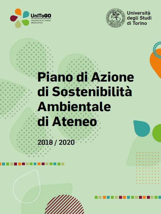 Copertina del Piano di Azione di Sostenibilità Ambientale di Ateneo