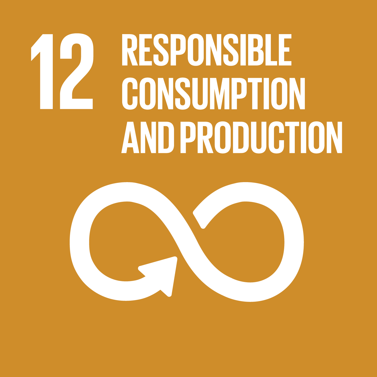 Icona Responsible consumption and production con simbolo dell'infinito