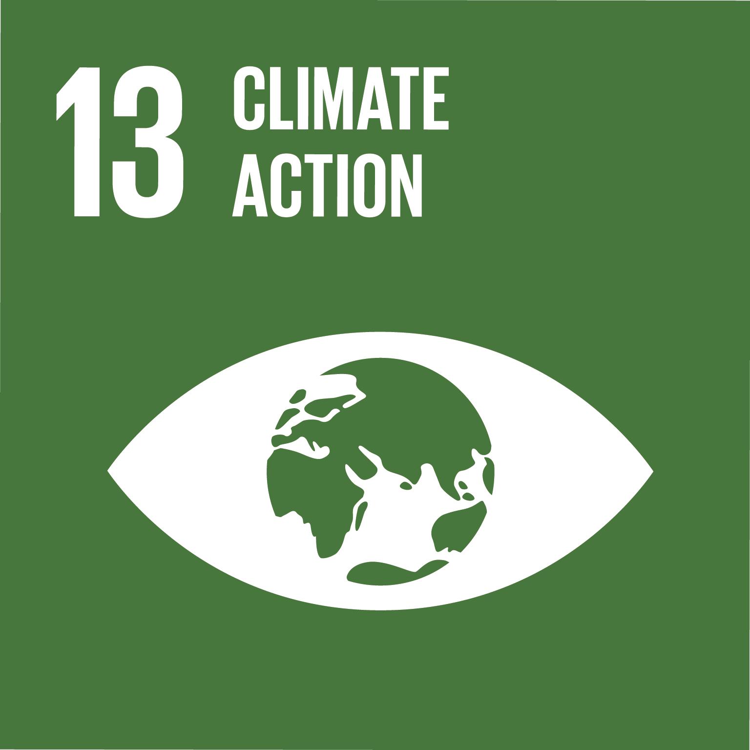 Icona Climate action con occhio con pupilla a forma di terra