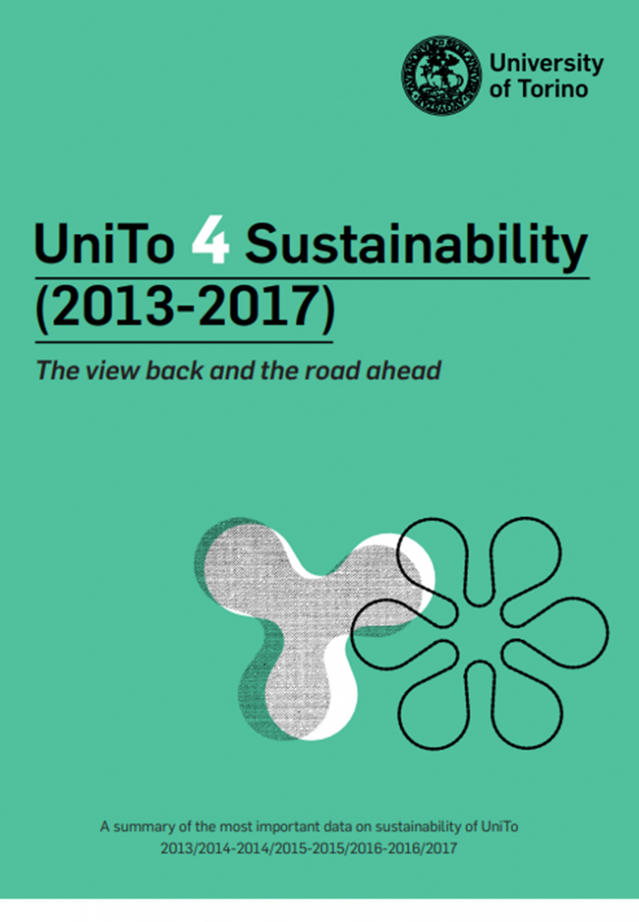 Copertina del volume UniTo 4 Sustainability (2013-2017). The view back and the road ahead