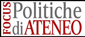 Logo del focus Politiche di Ateneo
